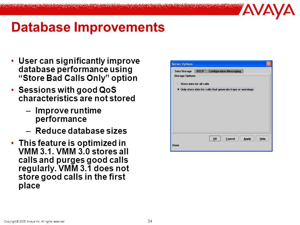 Database Improvements