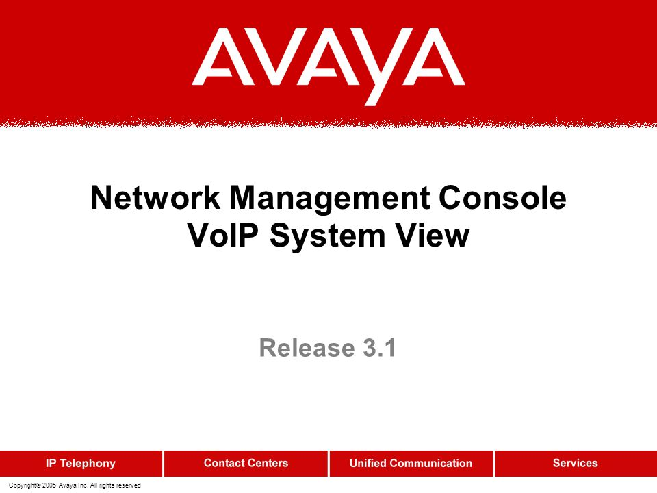 Network Management Console VoIP System View