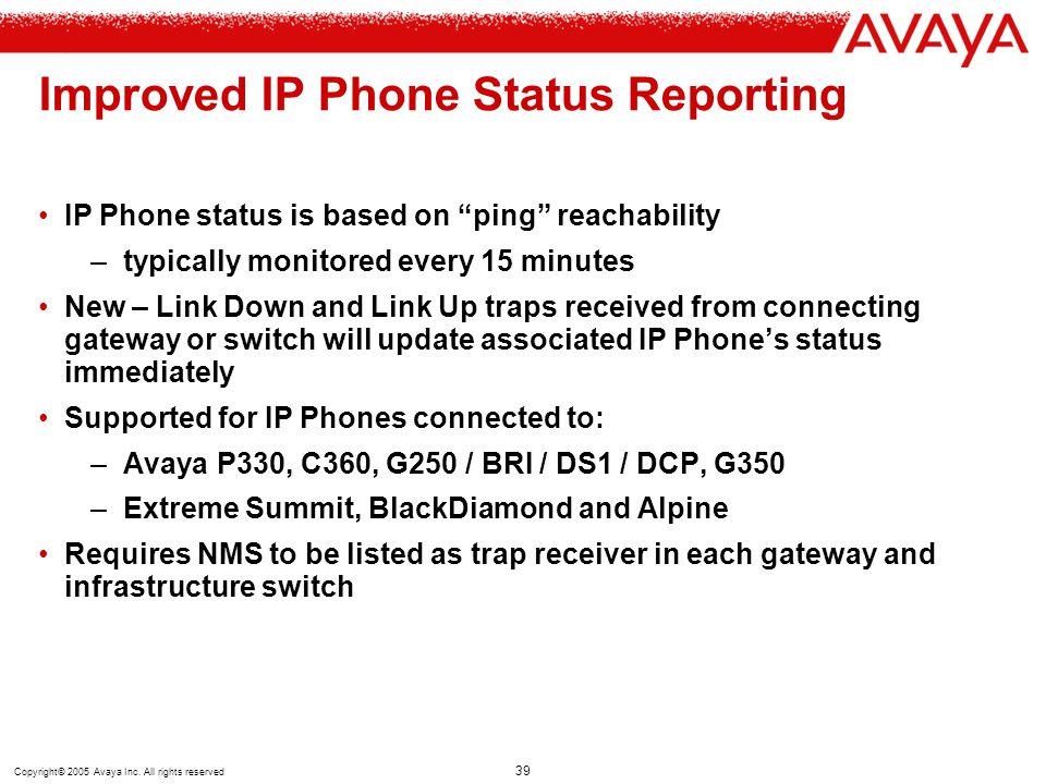 Improved IP Phone Status Reporting