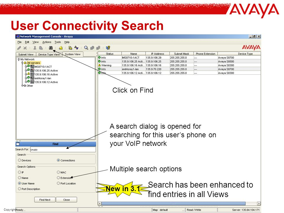 User Connectivity Search
