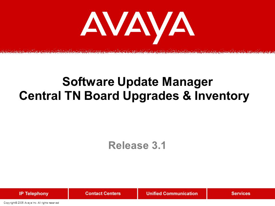 Software Update Manager Central TN Board Upgrades & Inventory