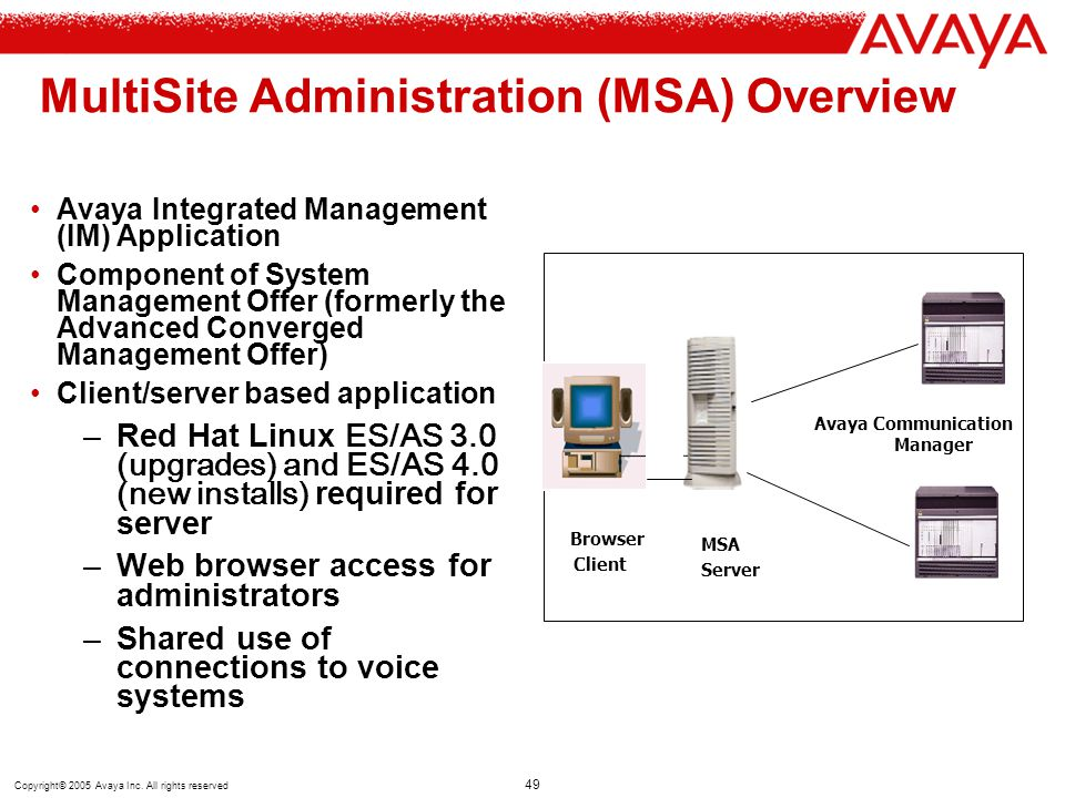 MultiSite Administration (MSA) Overview