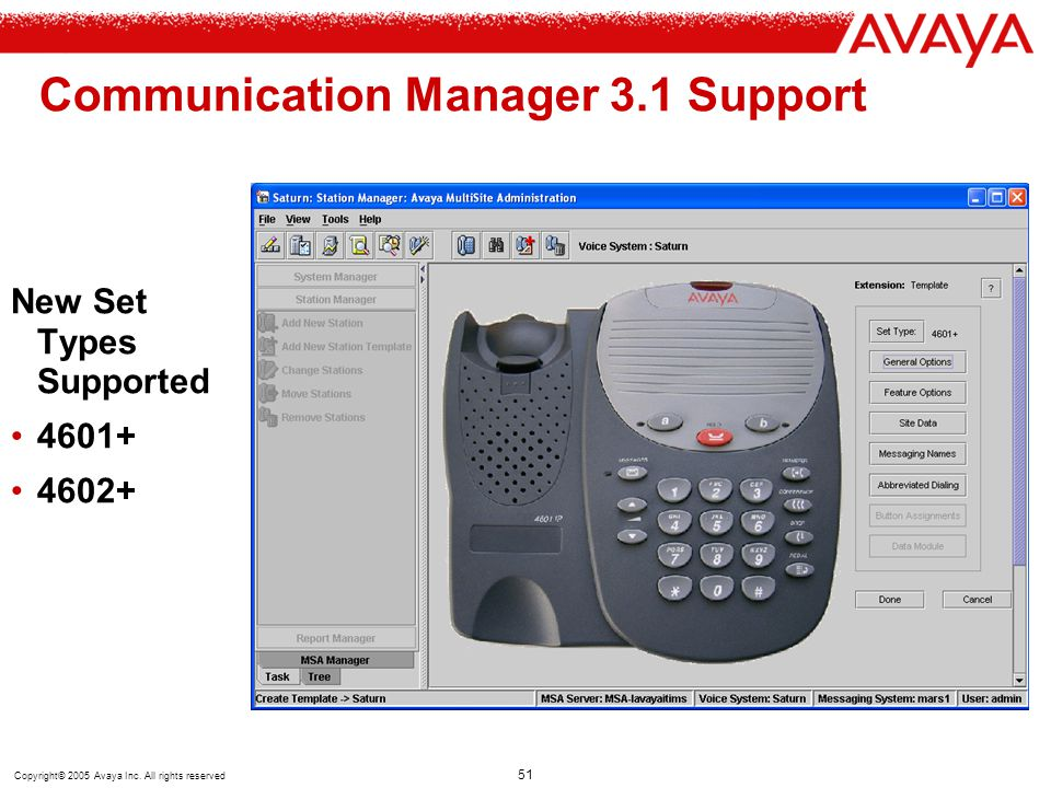 Communication Manager 3.1 Support
