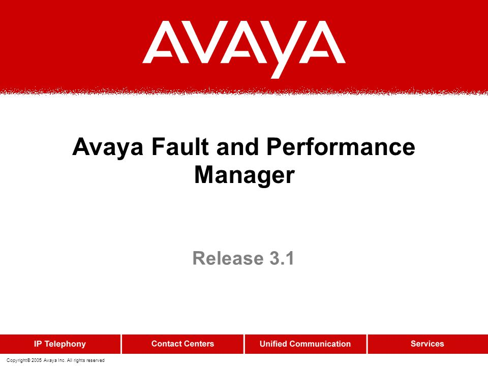 Avaya Fault and Performance Manager