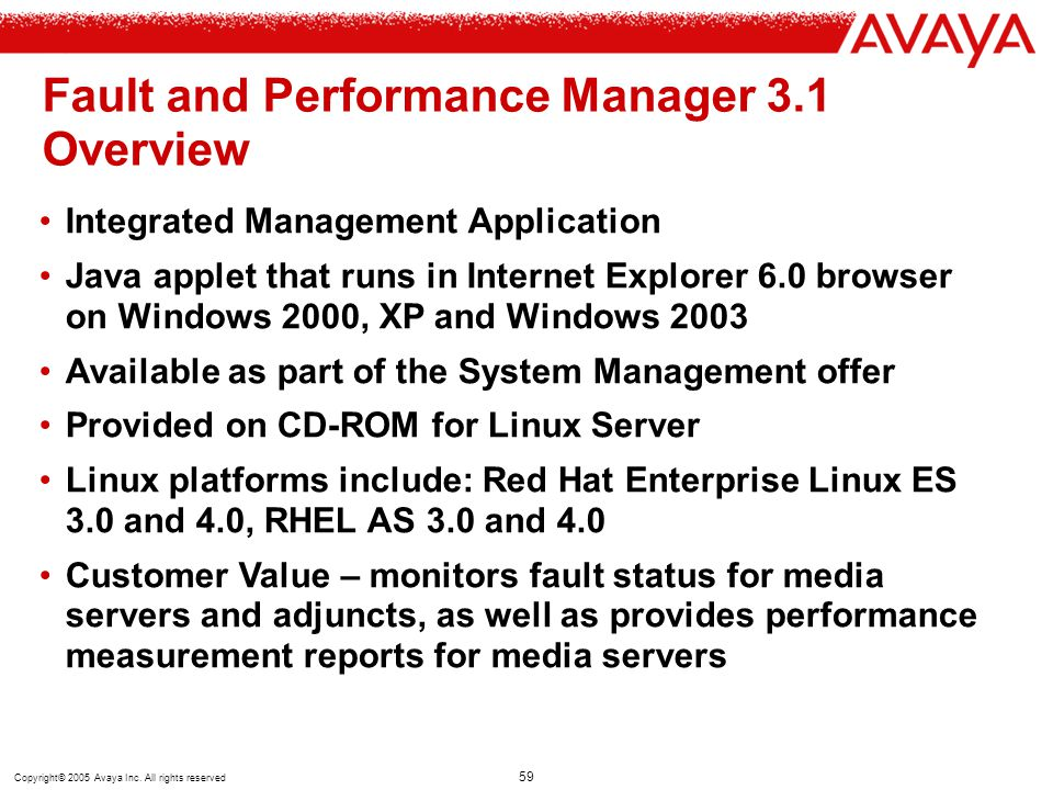 Fault and Performance Manager 3.1 Overview
