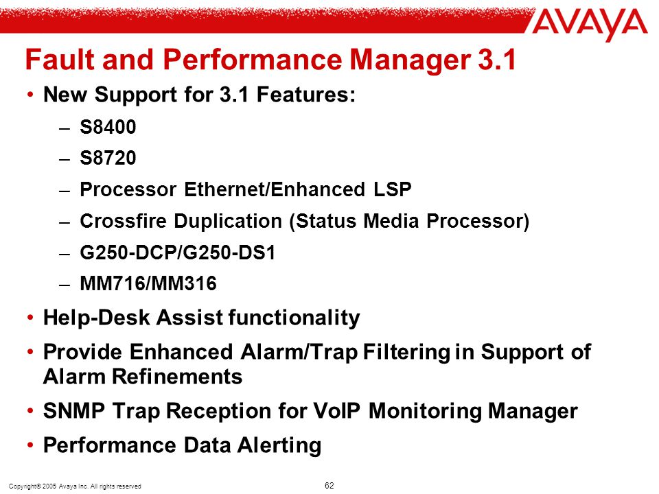 Fault and Performance Manager 3.1
