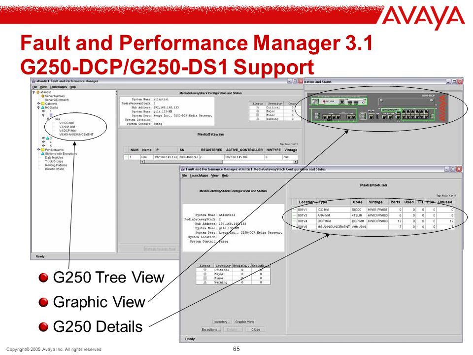 Fault and Performance Manager 3.1 G250-DCP/G250-DS1 Support