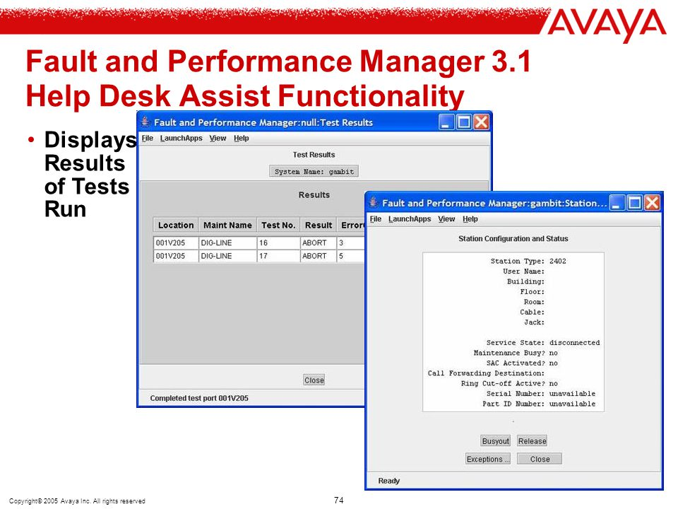 Fault and Performance Manager 3.1 Help Desk Assist Functionality