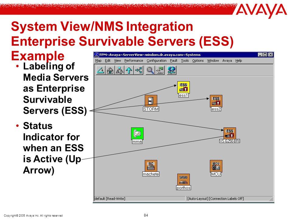 System View/NMS Integration Enterprise Survivable Servers (ESS) Example