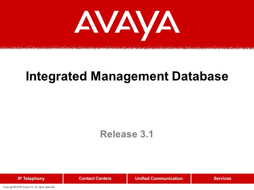 Integrated Management Database