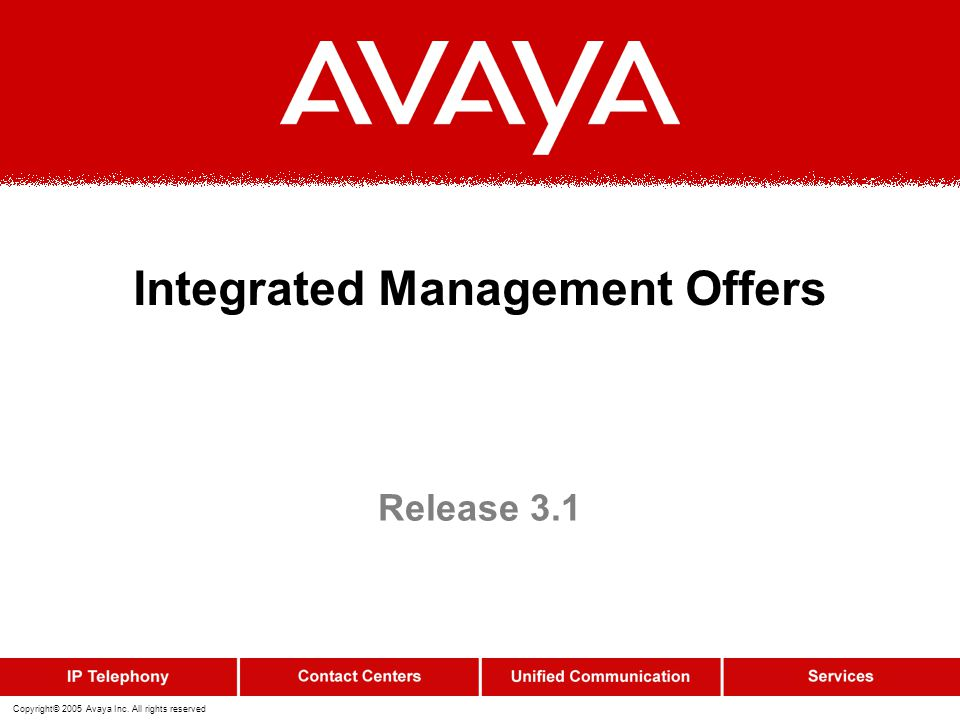 Integrated Management Offers
