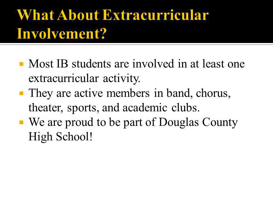 What About Extracurricular Involvement