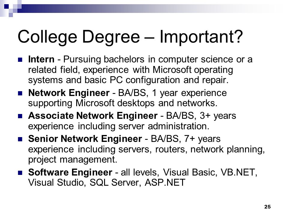 College Degree – Important