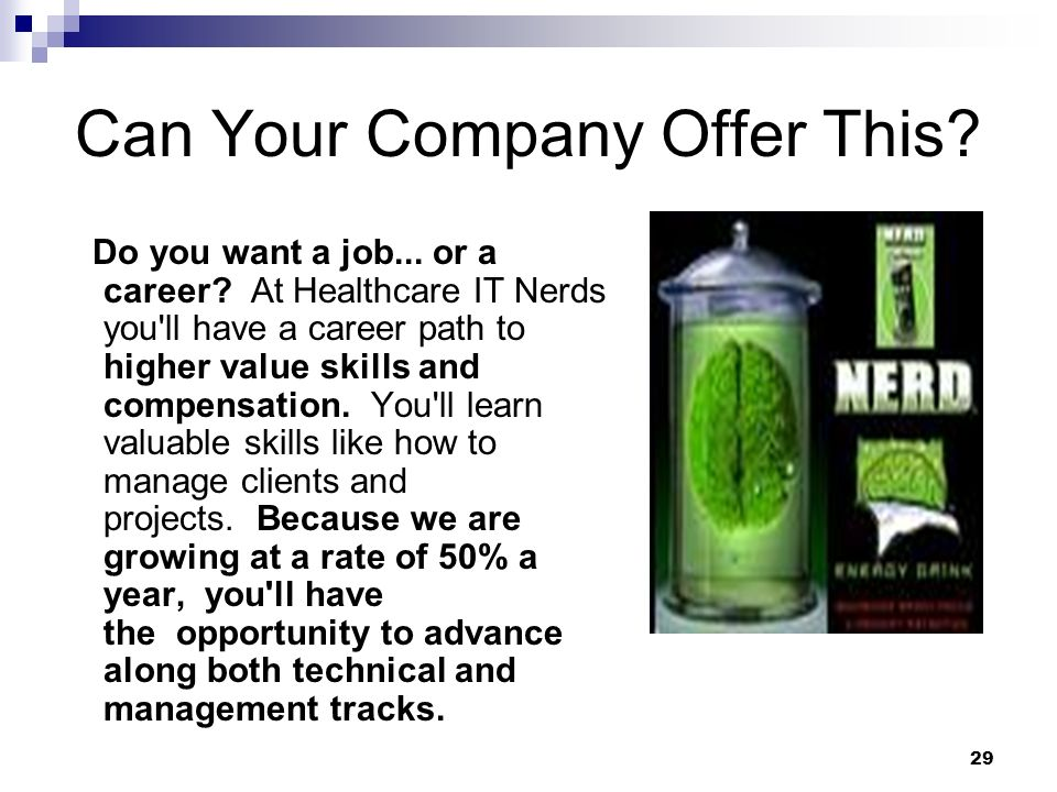 Can Your Company Offer This