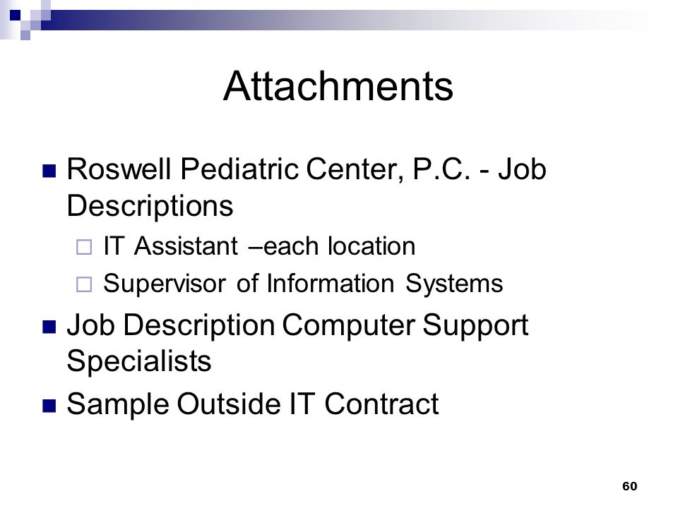 Attachments Roswell Pediatric Center, P.C. - Job Descriptions