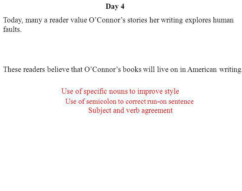 Use of specific nouns to improve style