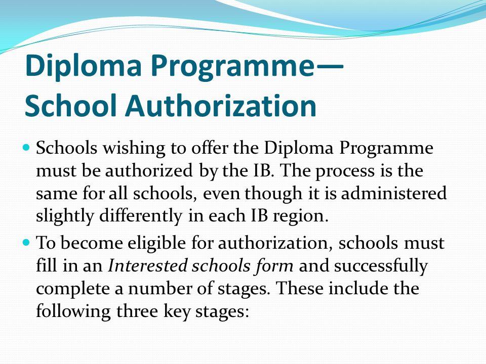 Diploma Programme— School Authorization
