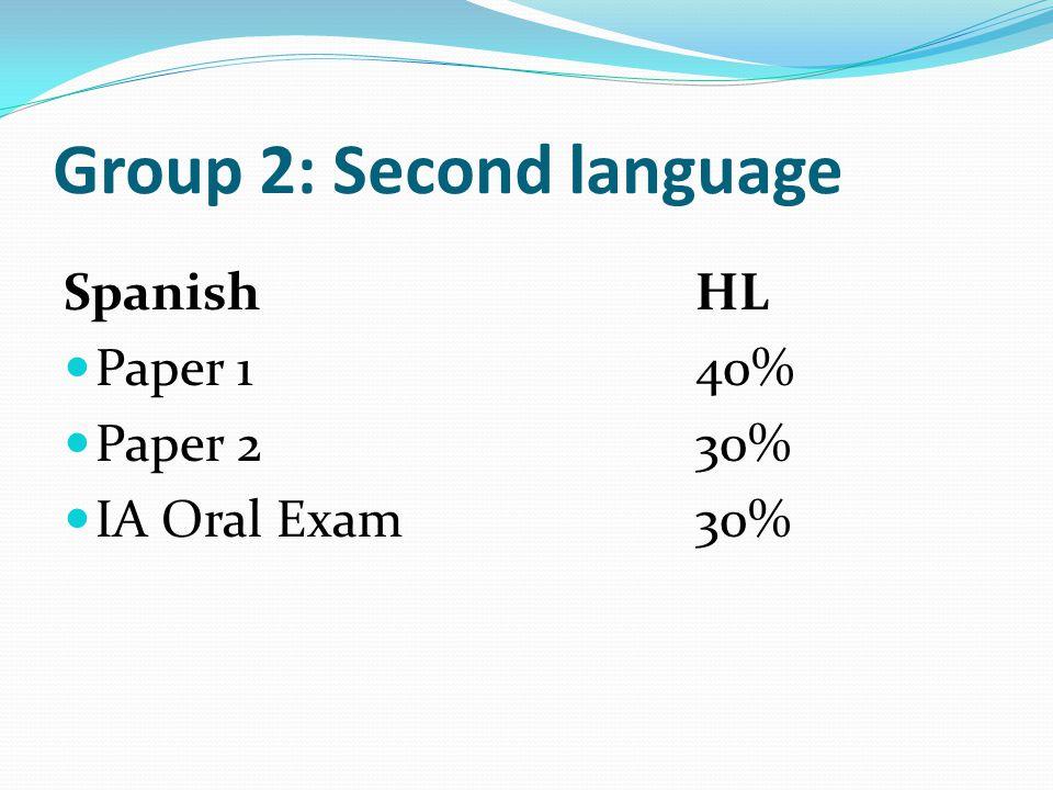 Group 2: Second language