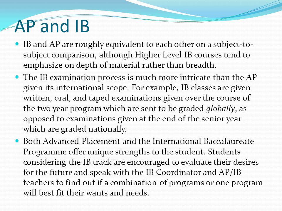 AP and IB