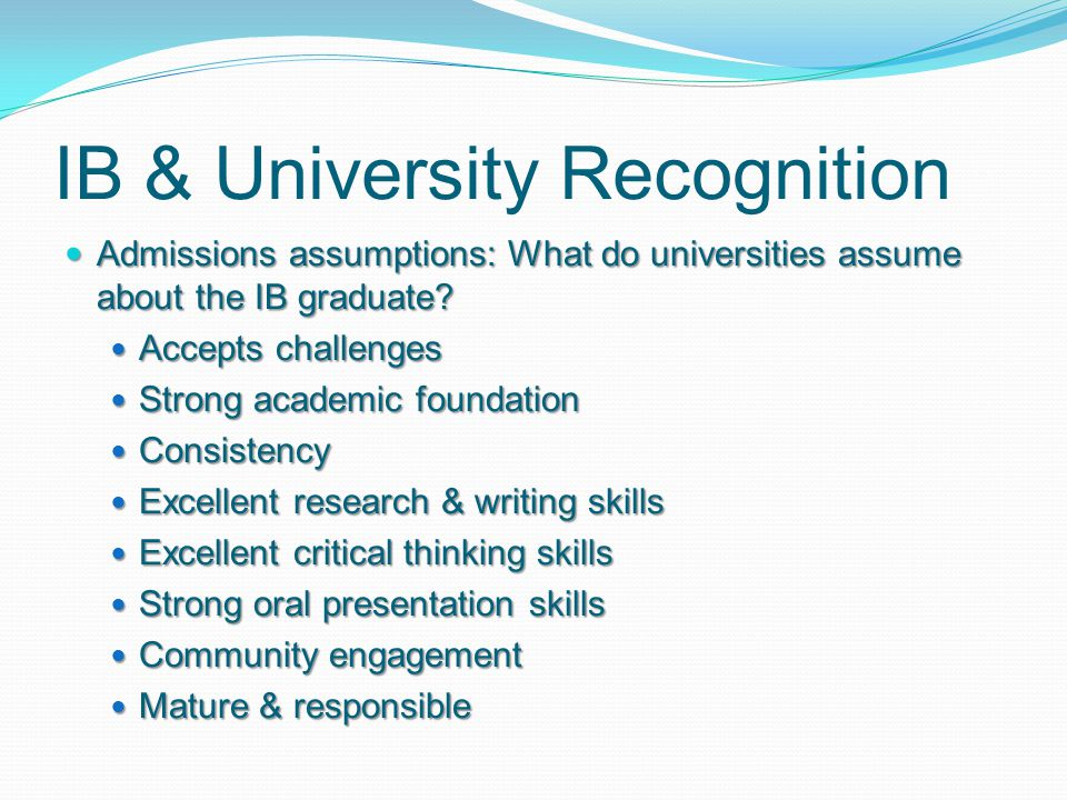 IB & University Recognition