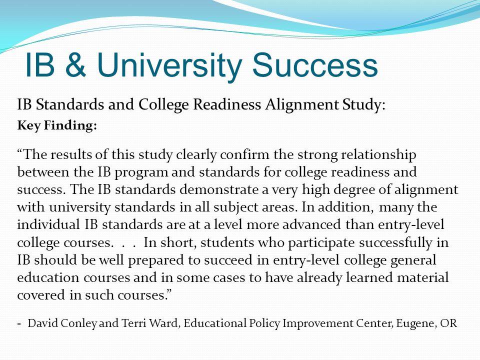 IB & University Success
