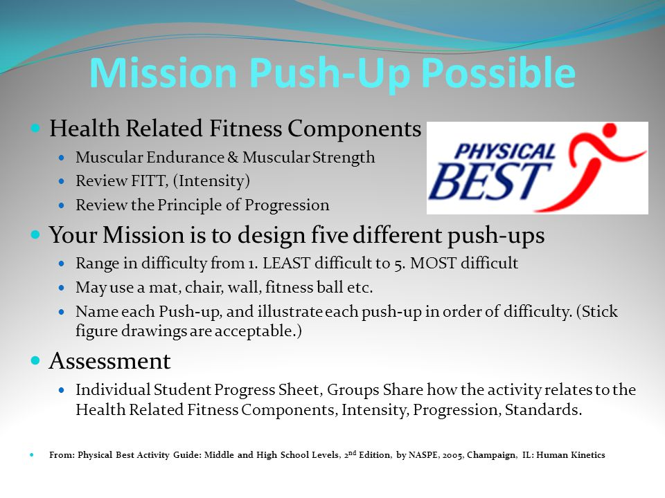 Mission Push-Up Possible