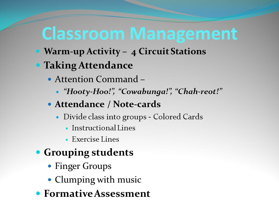 Classroom Management Taking Attendance Grouping students