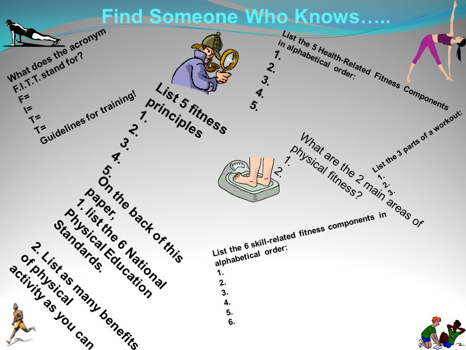 Find Someone Who Knows…..