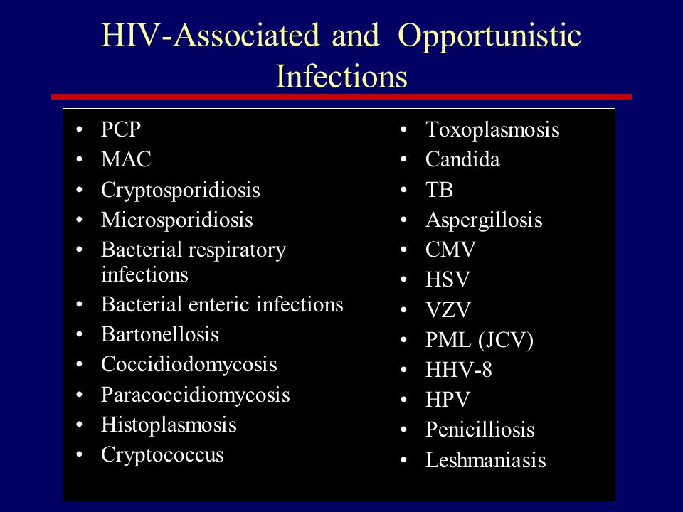 HIV-Associated and Opportunistic Infections