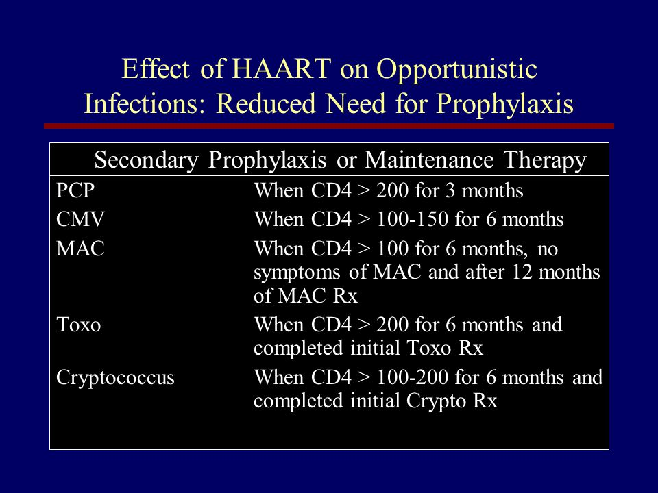 Secondary Prophylaxis or Maintenance Therapy