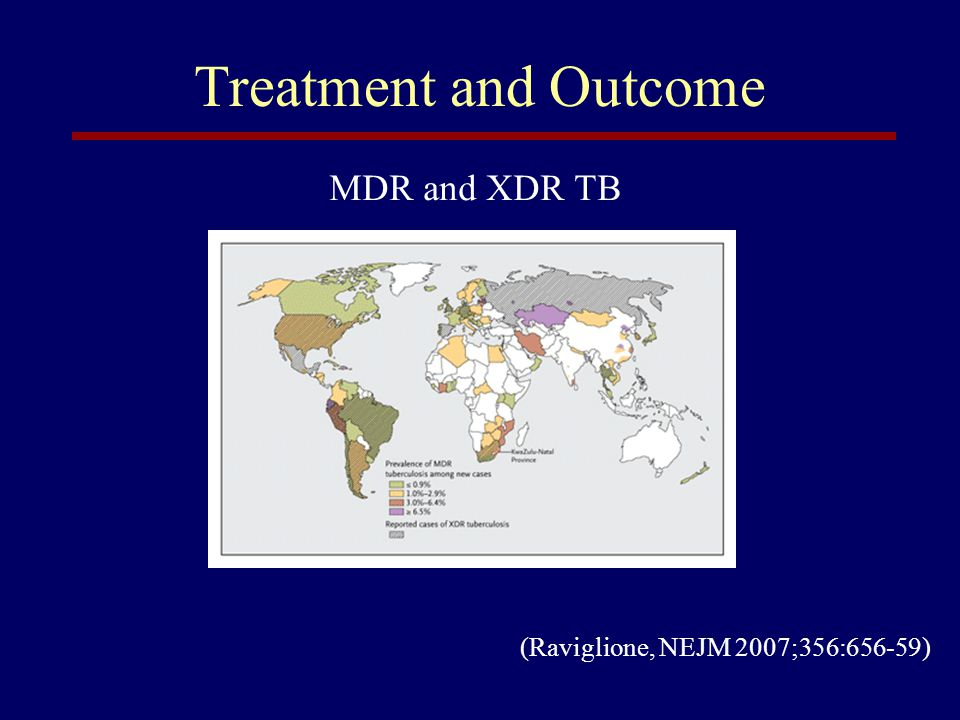 Treatment and Outcome MDR and XDR TB