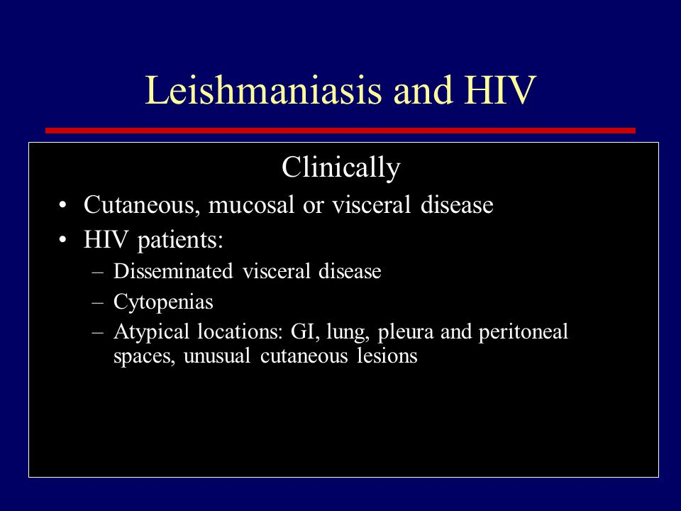 Leishmaniasis and HIV Clinically