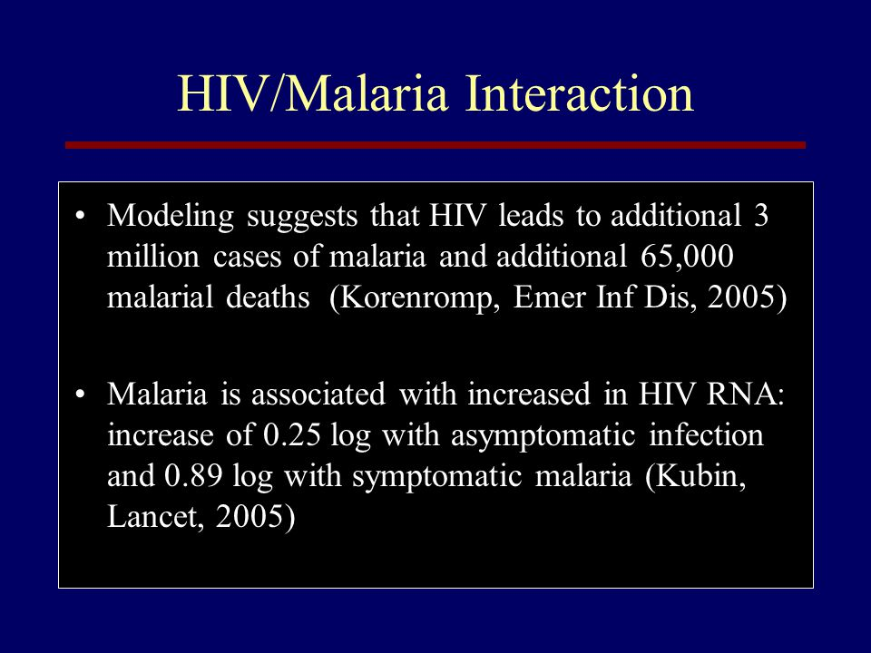 HIV/Malaria Interaction