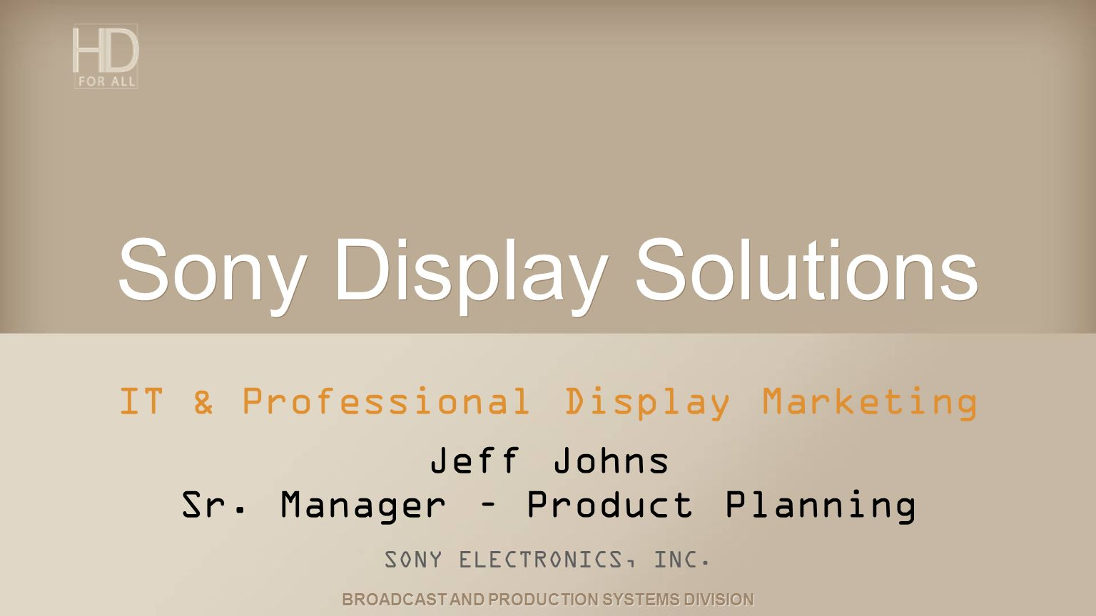 Sony Display Solutions