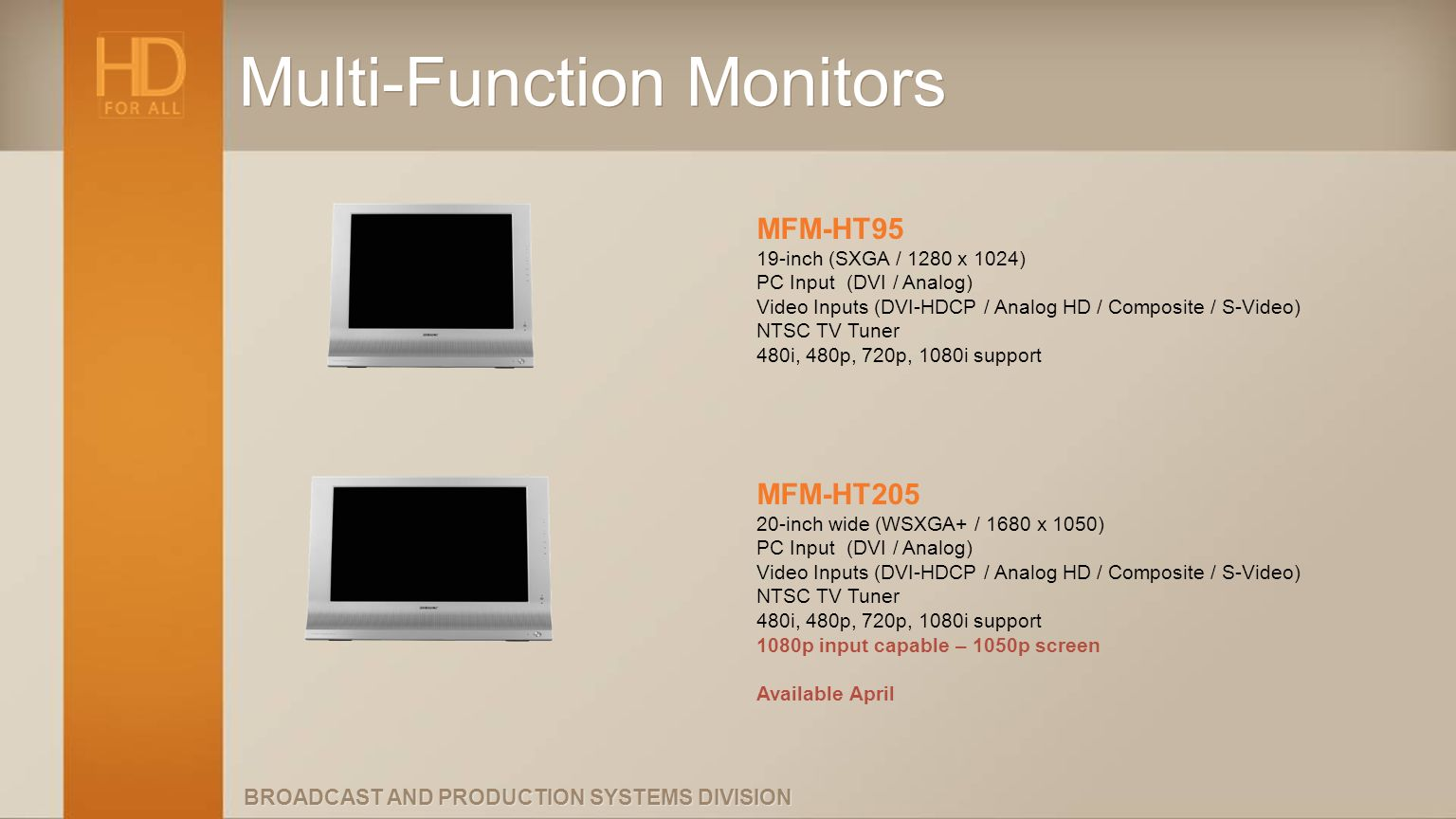 Multi-Function Monitors