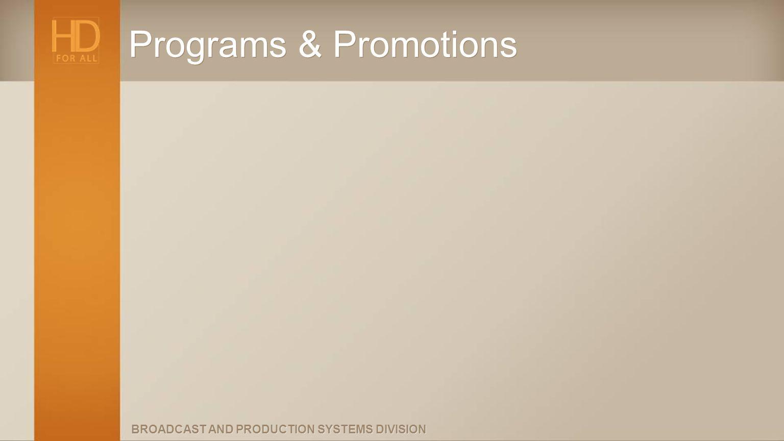 Programs & Promotions