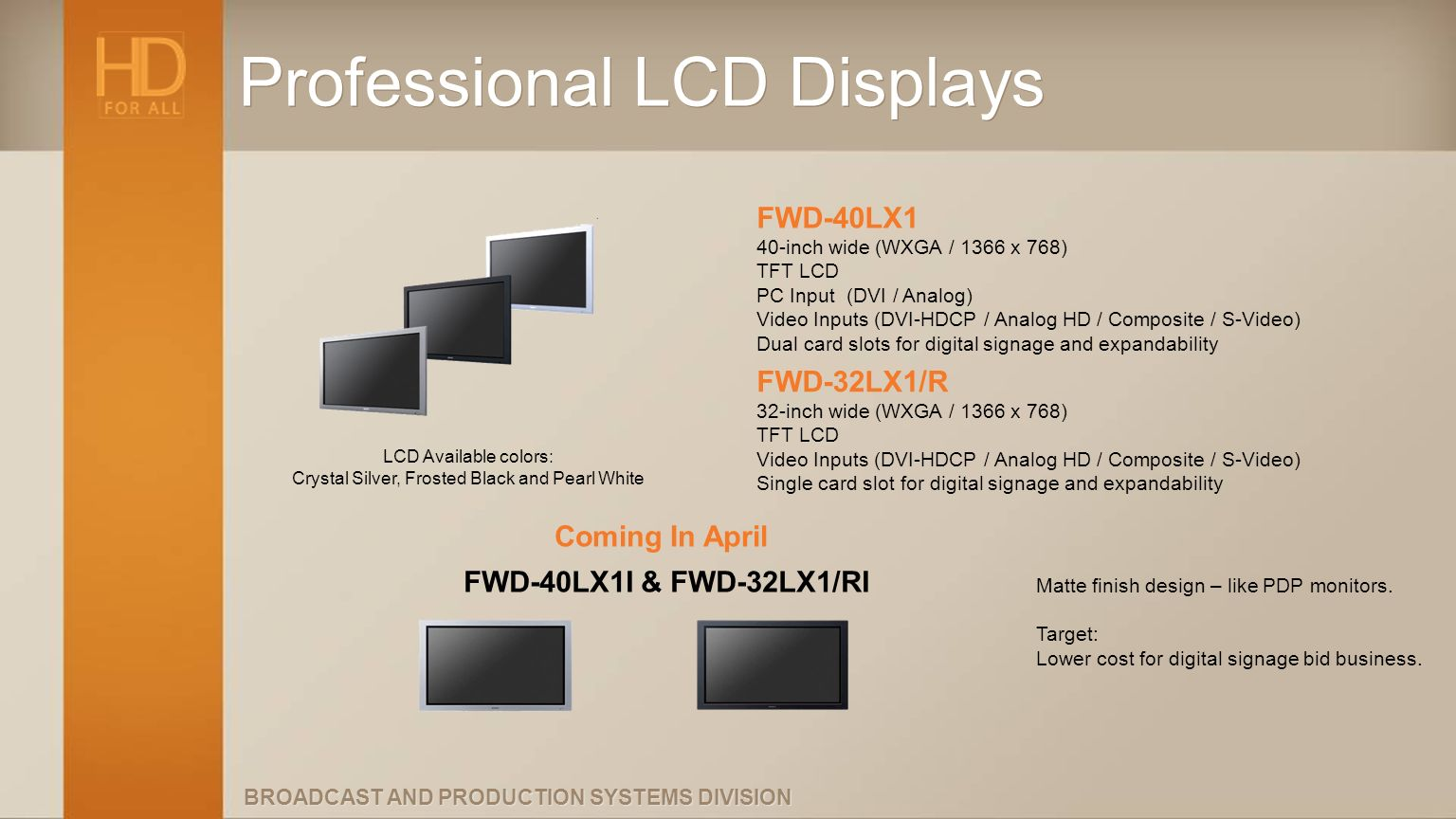 Professional LCD Displays