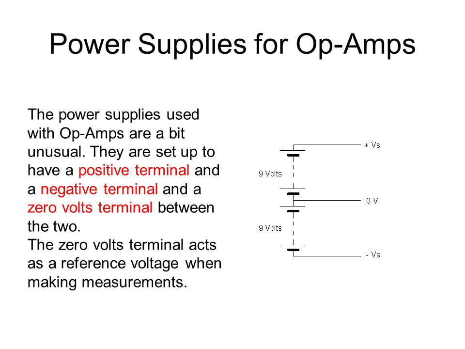 Power Supplies for Op-Amps