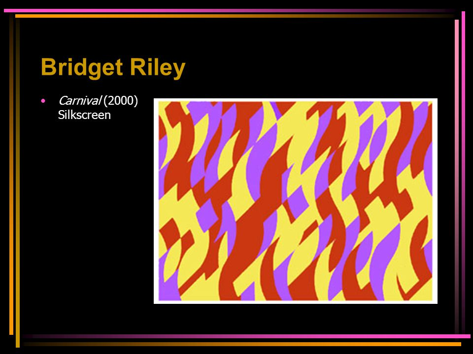 Bridget Riley Carnival (2000) Silkscreen