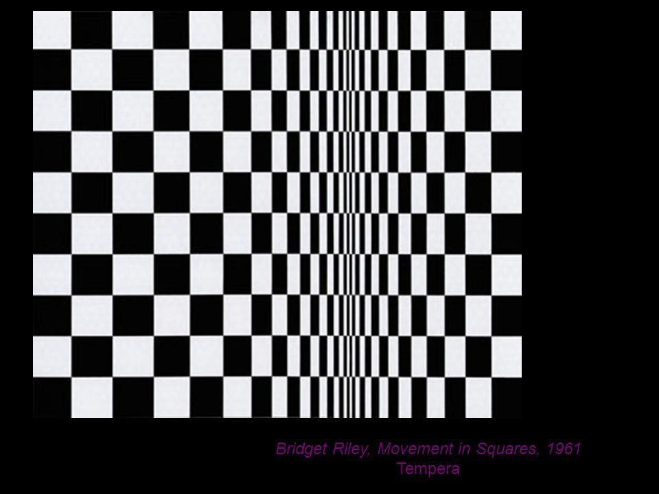 Bridget Riley, Movement in Squares, 1961 Tempera