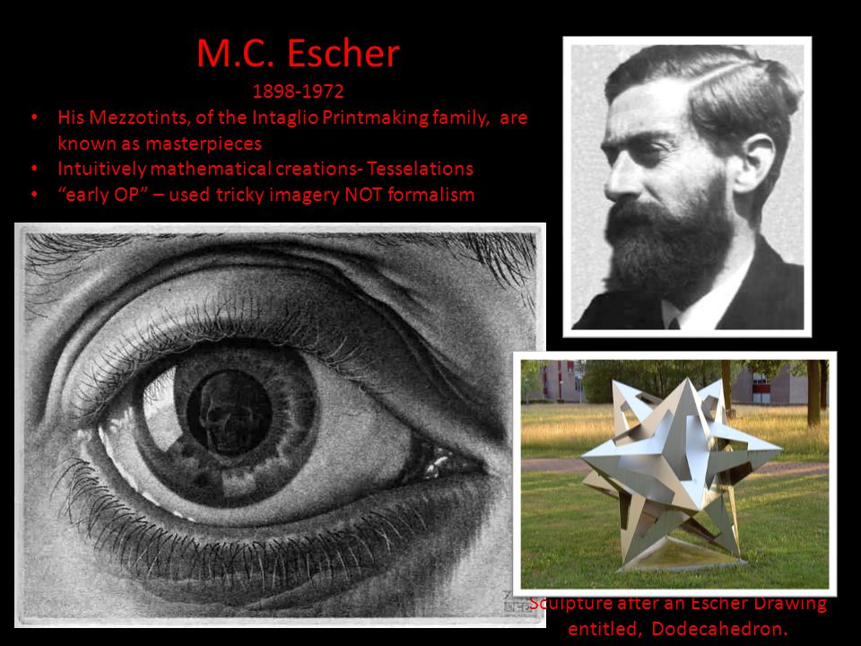 Sculpture after an Escher Drawing entitled, Dodecahedron.