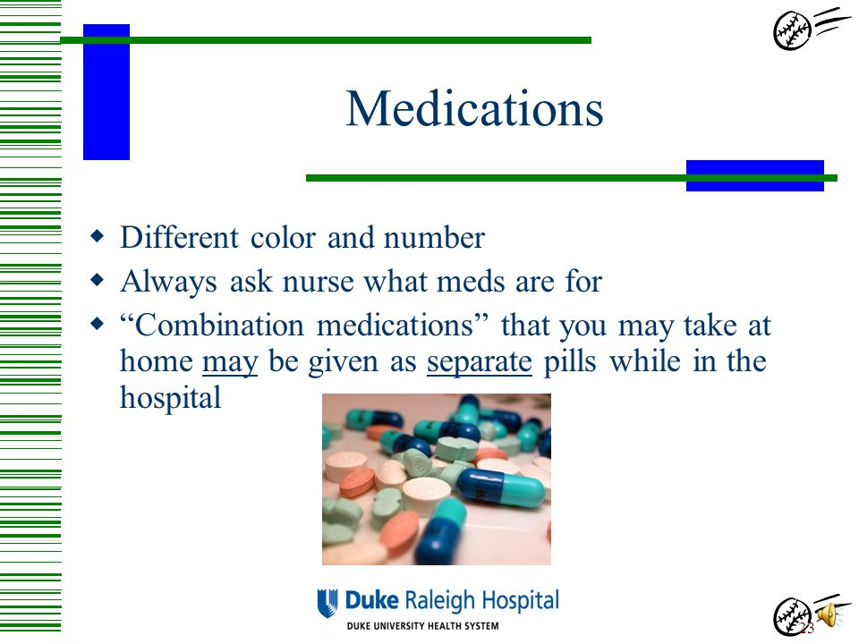 Medications Different color and number