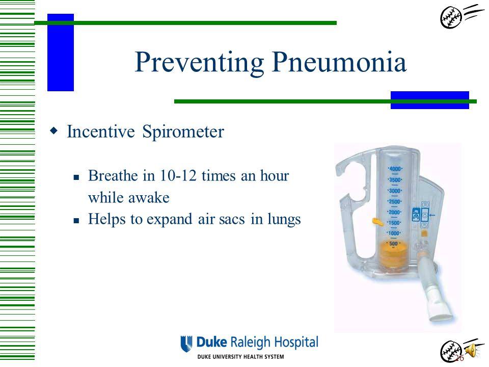 Preventing Pneumonia Incentive Spirometer