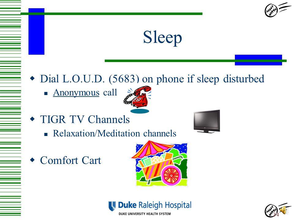 Sleep Dial L.O.U.D. (5683) on phone if sleep disturbed