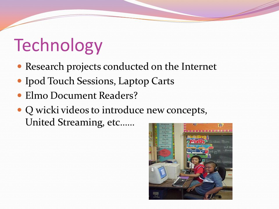 Technology Research projects conducted on the Internet