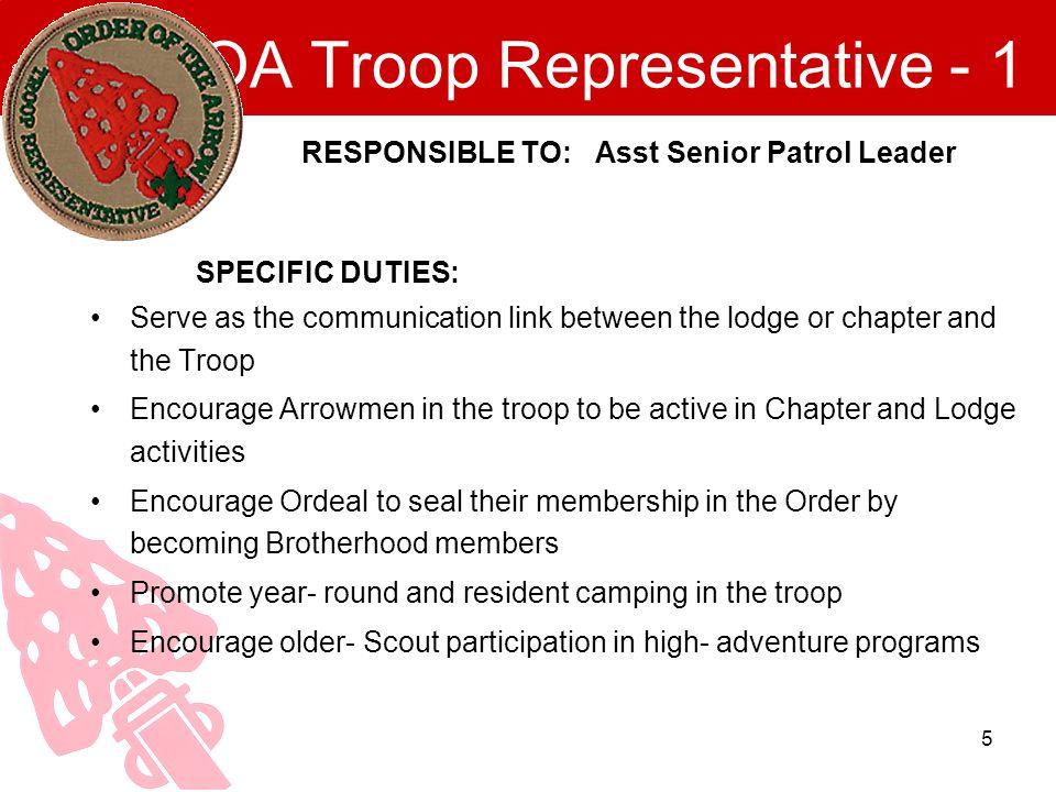OA Troop Representative - 1