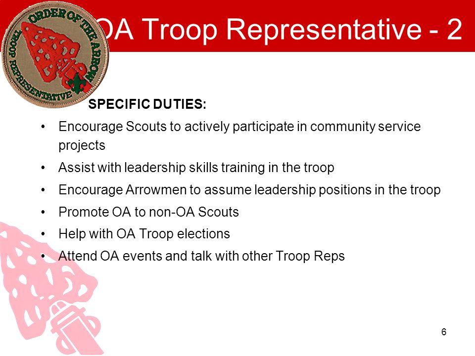 OA Troop Representative - 2