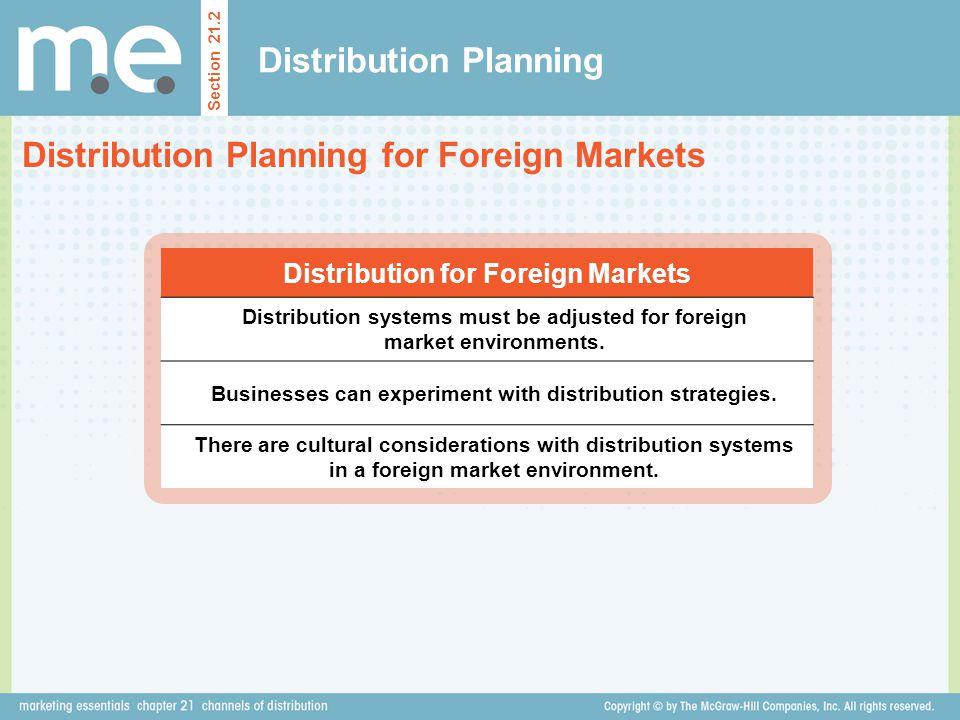 Distribution Planning