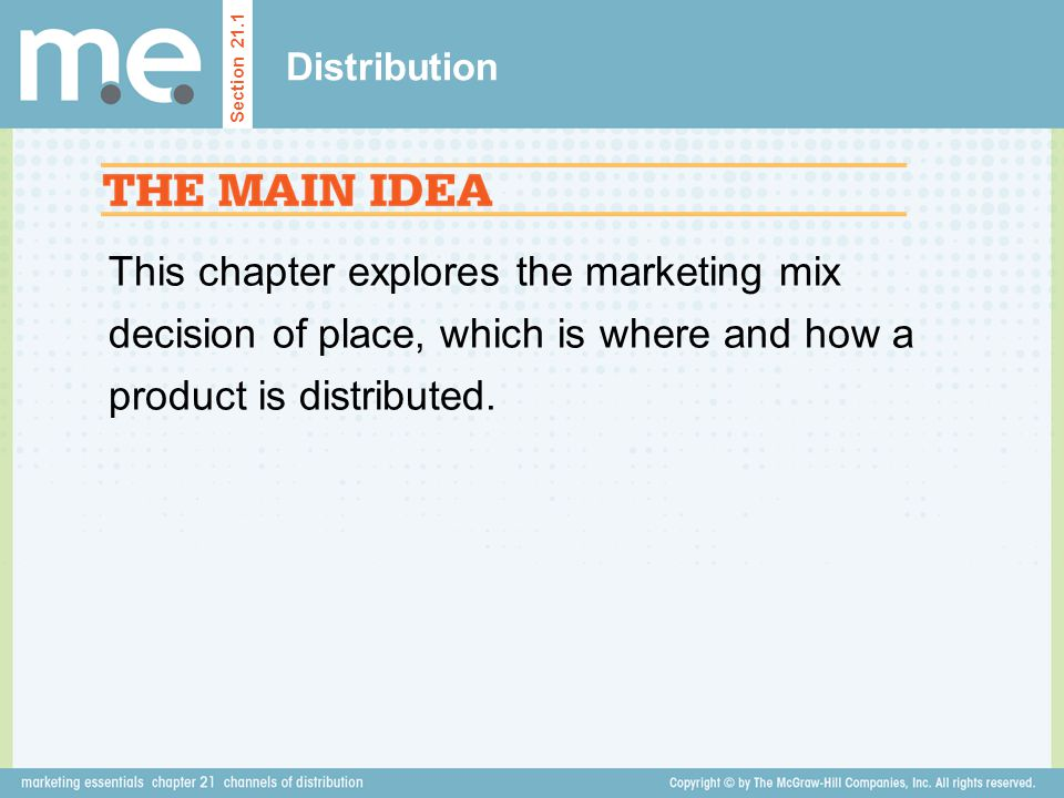 Distribution Section 21.1.