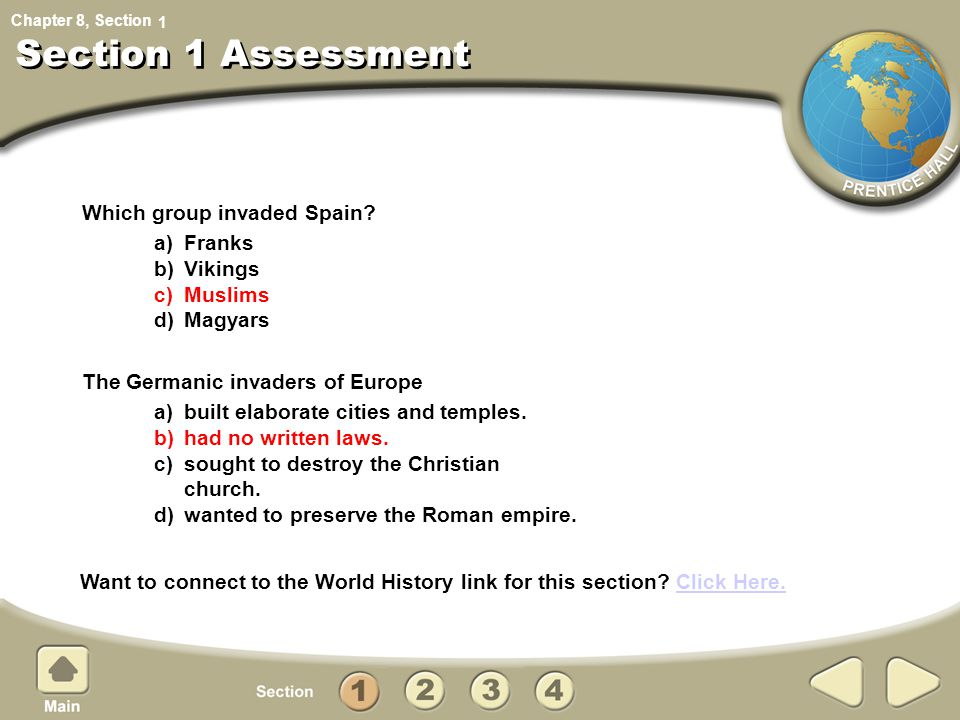 Section 1 Assessment Which group invaded Spain